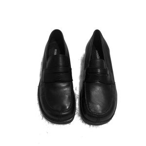 🆕 Dockers black leather loafers size 6
